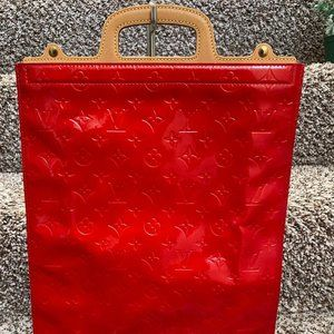 Louis Vuitton Stanton Red Vernis Hand Bag 11500